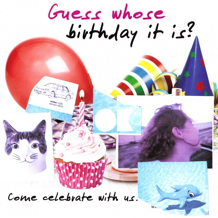 Birthday invite collage