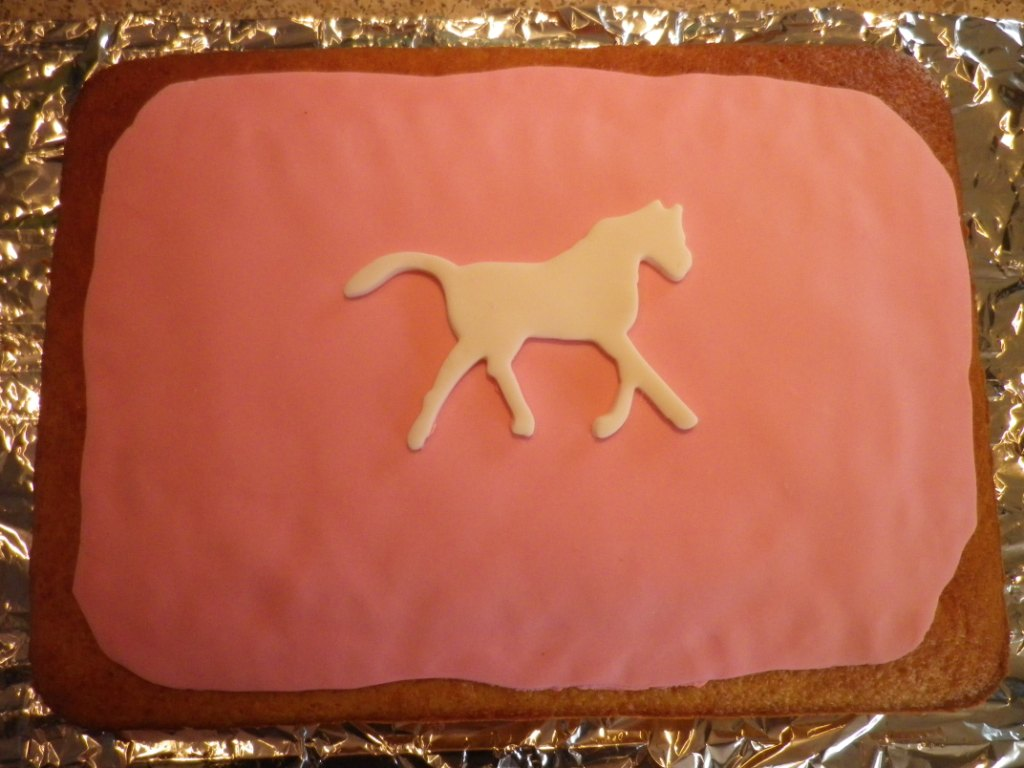 pink zoo cookie cake