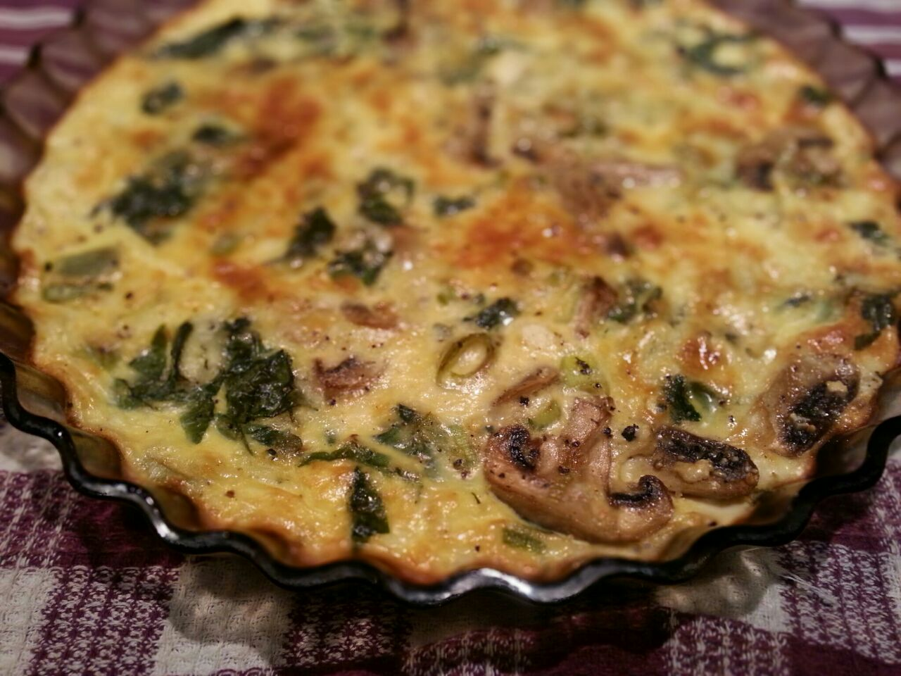 spinach and feta quiche