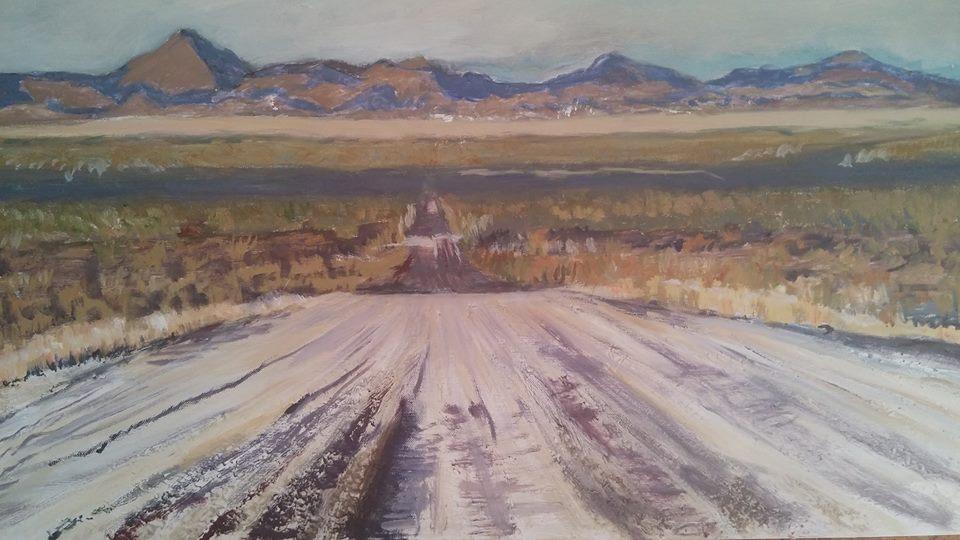 dirt road christa espost art