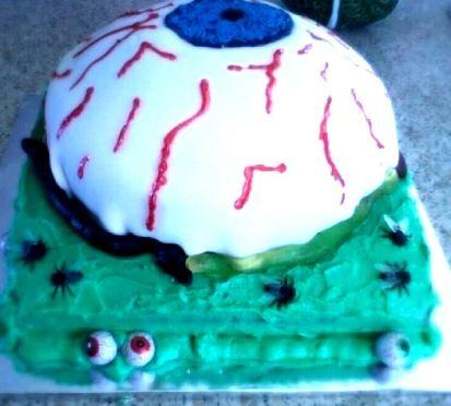 Halloween eye cake