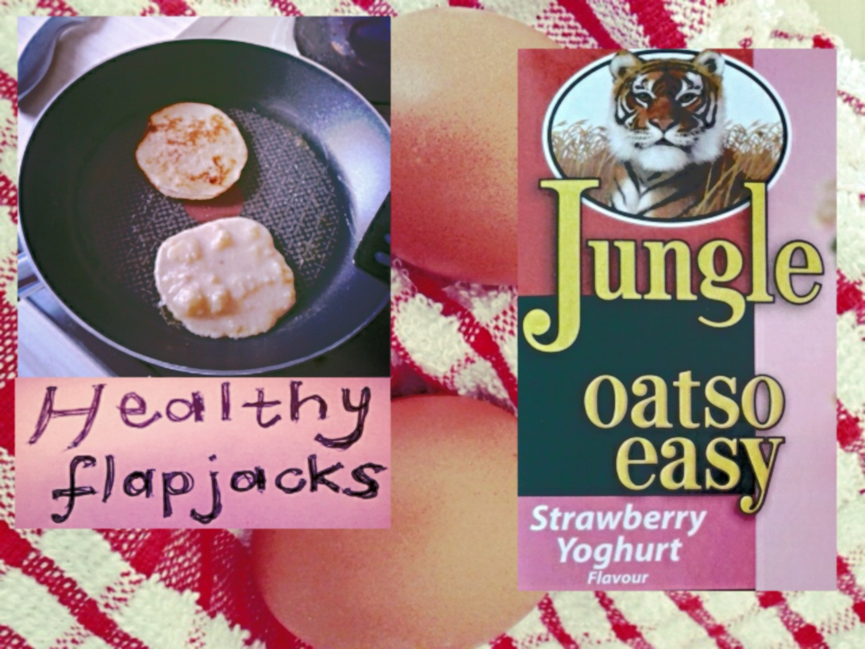 healthy oats flapjacks