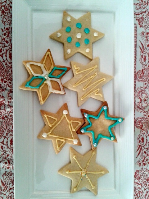 Star shaped Easter cookies
