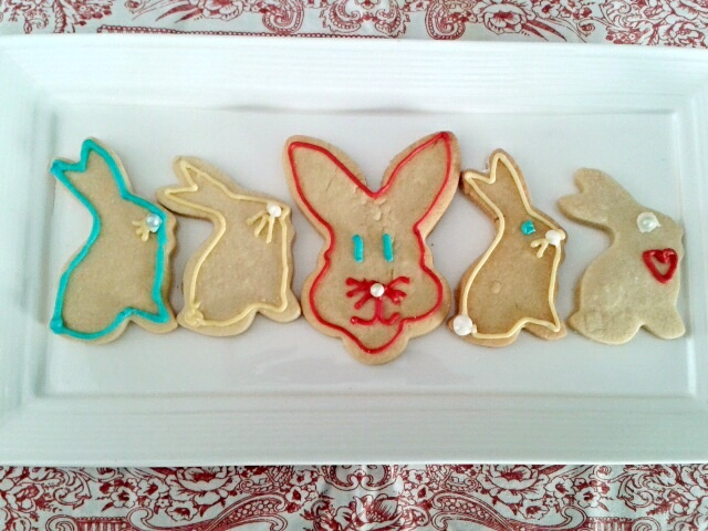 Assorted rabbits Easter cookies