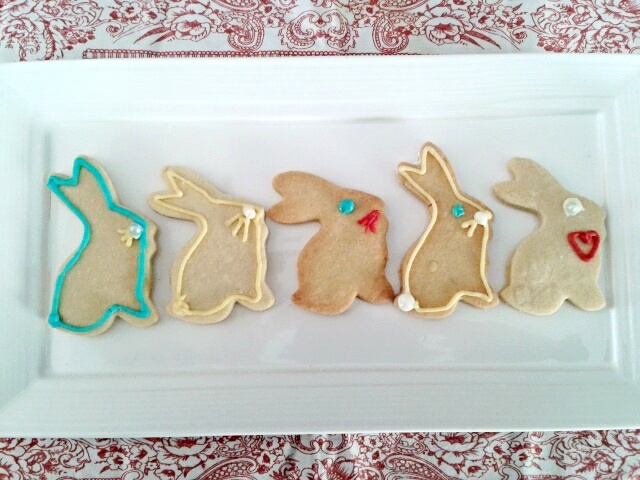 Rabbits Easter cookies