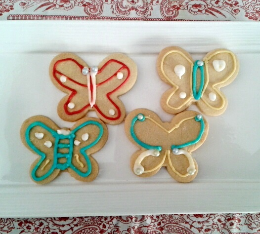 Butterfly shaped Easter cookies